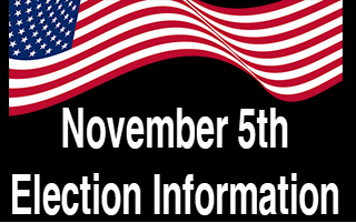 November 5th Election Information Banner with American Flag