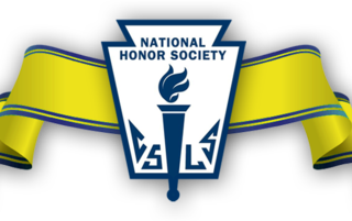 National Honor Society Crest with yellow ribbon
